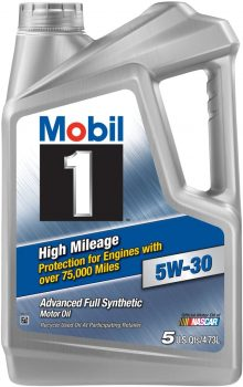 Mobil 1 5W-30 High Mileage Motor Oil