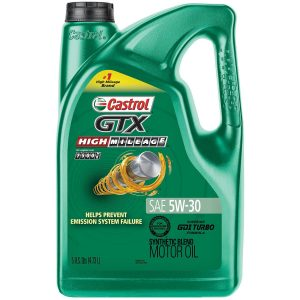 Castrol 03102 GTX High Mileage 5W-30 Motor Oil