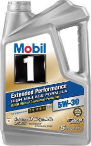 Mobil 1 5W-30 Extended Performance High Mileage Formula Motor Oil