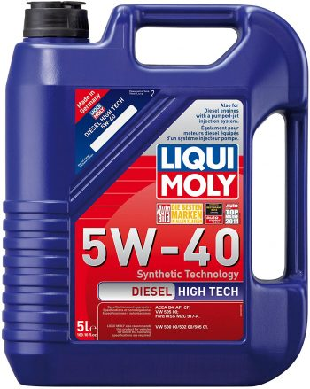 Liqui Moly 2022 Diesel High Tech Synthetic 5W-40 Motor Oil – Best for Duramax in Winter