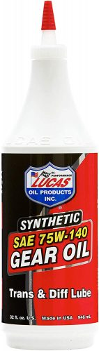 Lucas 75/140 Synthetic Gear Oil – Gear Oil for Semi Trucks