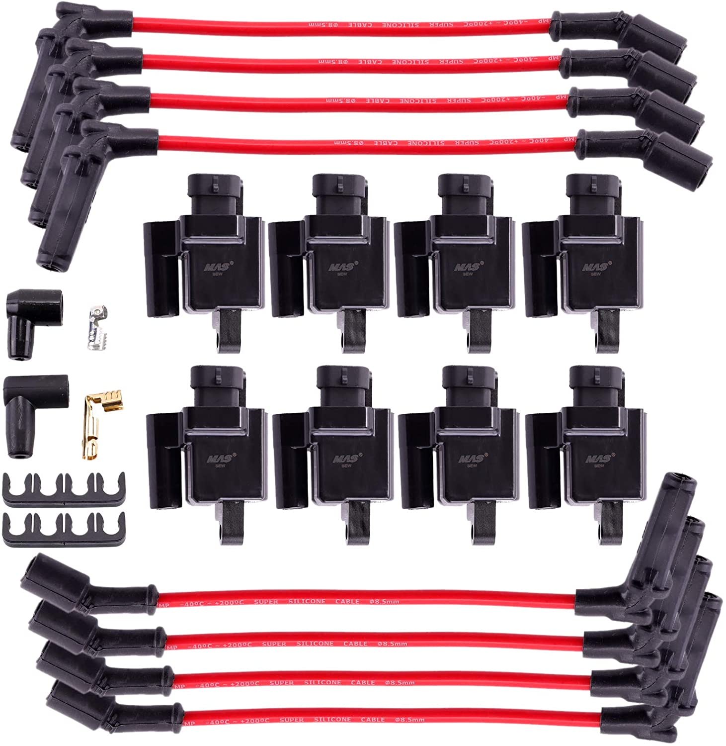 MAS 8 Pack Square Compatible Ignition Coil