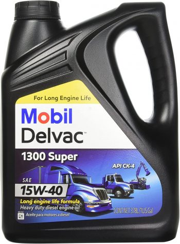Mobil 1 112786 15W-40 Delvac 1300 Super Motor Oil – Best for Duramax lly