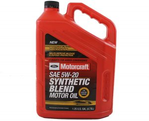 Motorcraft SAE 5W-20 Premium Synthetic Blend Motor Oil