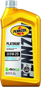 Pennzoil Platinum Full Synthetic 5W-20 Motor Oil