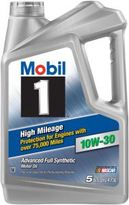 Mobil 1 High Mileage Full Synthetic 10W-30 Motor Oil