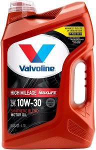 Valvoline High Mileage Synthetic Blend 10W-30 Motor Oil