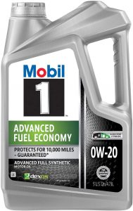 Mobil 1 Advanced Fuel Economy Full Synthetic 0W-20 Motor Oil